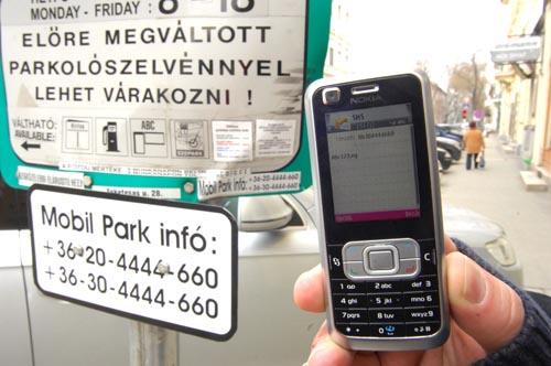 Szeged, Mobilparkolás Szegeden.fotó: segesvári csaba