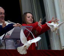 Egy sirály és egy varjú támadta meg a pápa békegalambjait